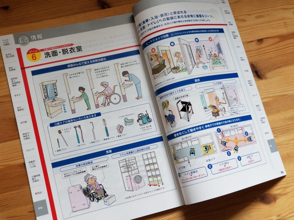 グリーンケア(福祉用具カタログ)の誌面デザイン