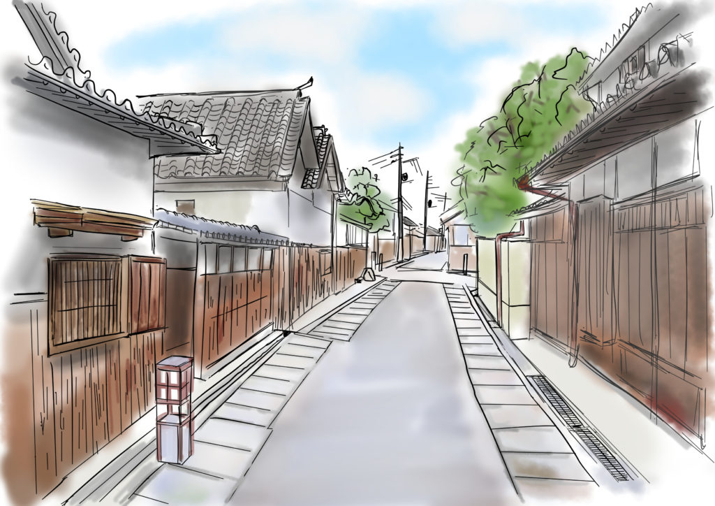 デザイズミのイラスト制作 Shukran様 富田林 寺内町